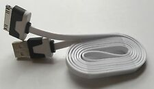Heavy Duty strong apple iphone 4 4S Ipod Ipad 2 3 USB lead cable flat 1M WHITE