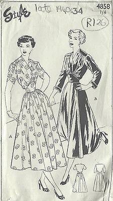 1111r 1940er Jahre Vintage Vogue-Schnittmuster B34 Mantel /& Kleid