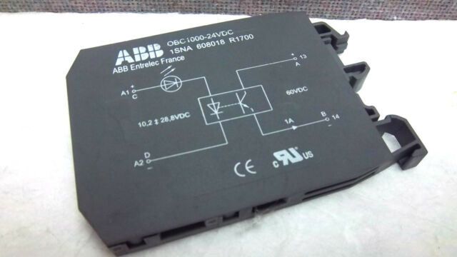 IN1S3B1 LOT OF 2 ABB OBC1000-24VDC 1SNA608018R1700 SOLID STATE RELAY