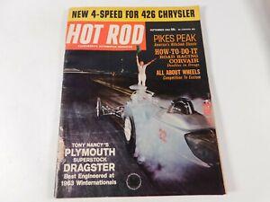 Vintage Original September 1963 Hot Rod Magazine Automotive Custom Car Mods