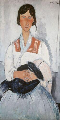 Poster oder Leinwand Bild Amadeo Modigliani Menschen Frau Malerei Weiß A2PJ