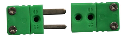 K Type Thermocouple Mini connector Male /& Female IEC 584 Green Plug /& Socket