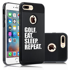 For iPhone SE 5s 6 6s 7 Plus Shockproof Hard Case Cover Golf Eat Sleep Repeat