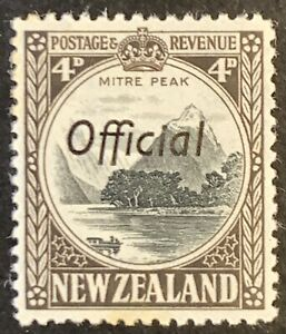 New-Zealand-Optd-OFFICIAL-Four-Pence-Definitives-1936-Mounted-Unused-AF87