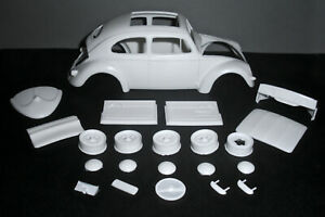 1957-VW-OVAL-WINDOW-SUNROOF-RESIN-CONVERSION-KIT-for-1-24-TAMIYA-1966-VW-KITS