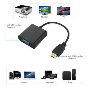 HDMI-Male-a-VGA-RGB-Female-Audio-HD-Video-Cable-Converter-Adapter-1080P-Pour-PC