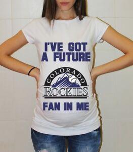 best service a3e9f 3fda5 Details about Colorado Rockies Shirt Pregnancy Shirt Maternity T-shirt Baby  Shower Baseball