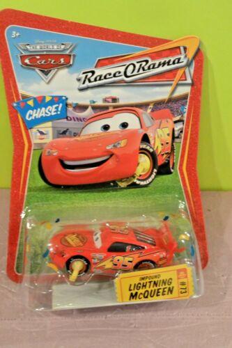 DISNEY PIXAR WORLD OF CARS RACE O RAMA #73 CHASE IMPOUND LIGHTNING McQUEEN