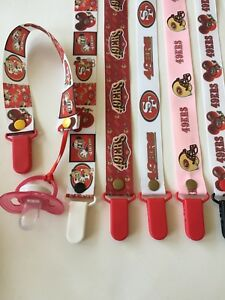 Handmade-Pacifier-Holder-Sports-Football-NFC-Teams