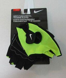 Adaptable Neuf Avec Étiquettes Nike Homme Fondamentaux Formation Fitness Gants M Volt/noir-afficher Le Titre D'origine