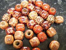 20 x Wooden Boho Mix Large Hole European Beads 16mm