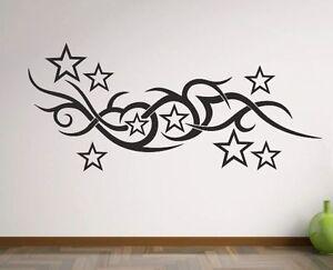 Wandaufkleber wandtattoo aufkleber wohnzimmer tattoo stern for Wohnzimmer tattoo