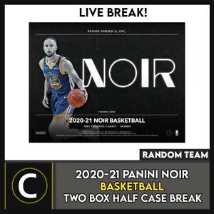 2020-21 PANINI NOIR BASKETBALL 2 BOX (HALF CASE) BREAK #B622 - RANDOM TEAMS