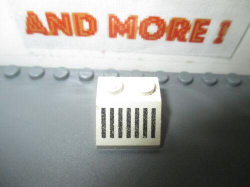 Lego 1x Slope Pente 2x2 Black Grille Pattern 3039p05 White