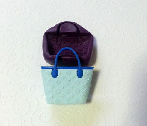 Fondant Clay Soap Silicone Mold Bag Purse M 41mm
