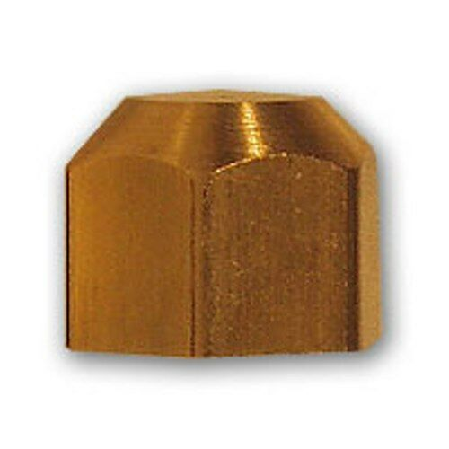 1/2 inch Flare Cap Brass Pipe Fitting NPT soft copper air water line fuel gas