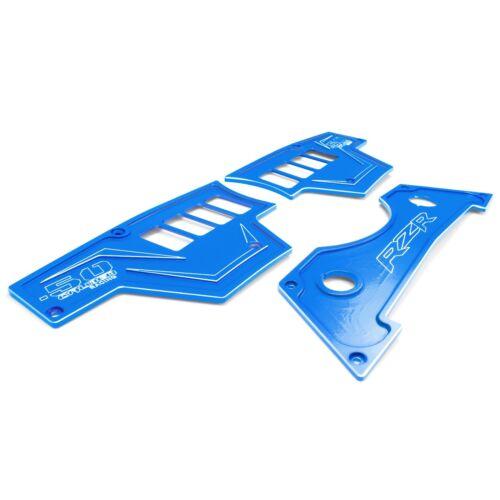 50 Caliber Racing Dash Panel Set of 3 Aluminum Blue Powdercoated for RZR XP1000
