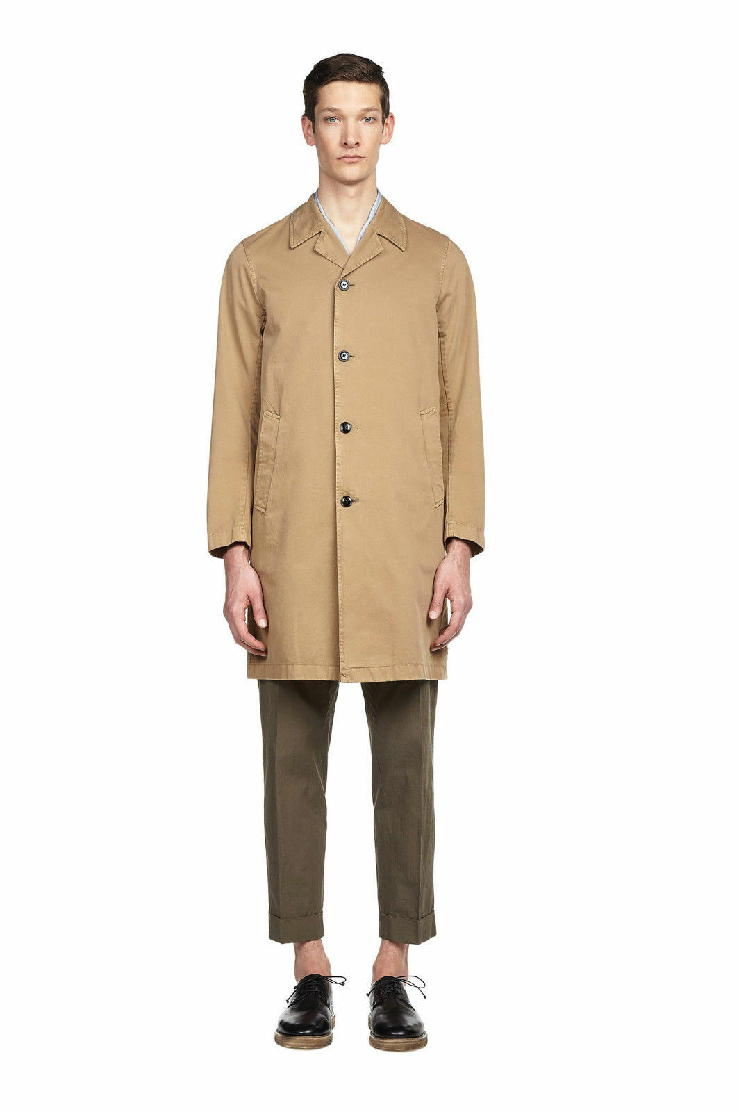 Dries Van Noten Rotan Bis Coat in Sand, Größe Large/50 - Brand New,