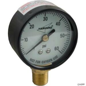 Pool Spa Filter Valve Universal Pressure Gauge 1/4