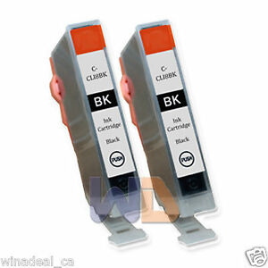 2-Black-CLI-8-Ink-Cartridge-CLI-8BK-CLI-8-WITH-NEW-CHIP-for-Canon-MP950-Printer