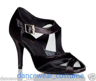 Ladies Prom Party Waltz Ballroom Latin Tango Samba Salsa Dance Shoes Heels US5-9