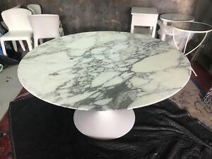 Knoll Eero Saarinen Tulip Dining Table Round Anniversary EBay - 54 saarinen table