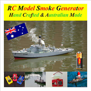 RC-Model-Boat-Smoke-Generator-12-Volt-with-Fluid-Single-Outlet-V4-S2-Series-Two