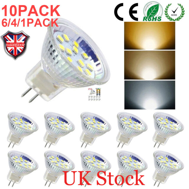 Led 30w Light Bulbs Bi Pin 3w5w 4610 Gu4 50w Replacement Pack Halogen Mr11 wN0v8nm