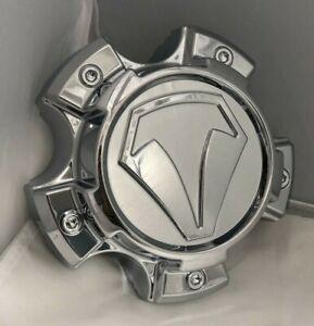 NEW-Toyota-TUNDRA-TRD-T-Force-Prime-Wheel-Center-Hub-Cap-CHROME-SNAP-ON-890C01