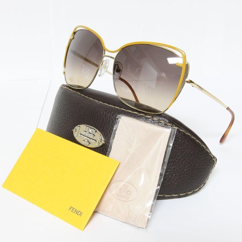 FENDI Designer Fashion Sunglasses FS5294 Gold / Mustard Color 714