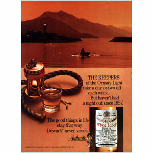 1980 Dewars: Keepers of the Omsay Light Vintage Print Ad