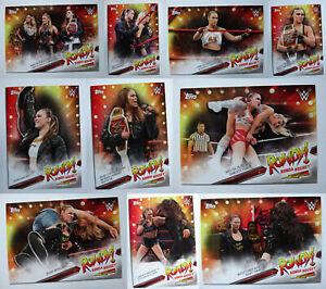 2019-Topps-WWE-SummerSlam-Ronda-Rousey-Spotlight-Wrestling-Cards-U-Pick-21-30