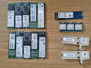 Lot 14 x Disque dur SSD M.2 et Nvme 128 Go Samsung Kingston Sandisk comme neuf !