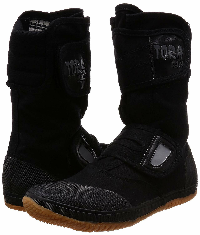 Japanisch Fukuyama Tabi Stiefel Ninja Schuhe Hoch Schnitt Oyakata  22 Schwarz