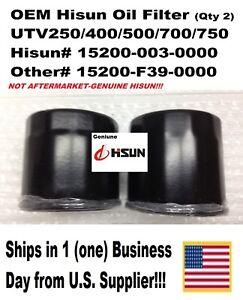 Details about UTV400/500/700,GENUINE HISUN,OEM,OIL  FILTER,15200-003-0000,15200-F12-0000,2PK