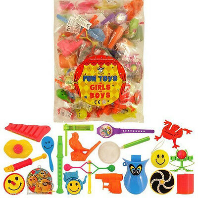 100 TOYS PARTY BAG FILLERS PINATA FETE LUCKY DIP PRIZES FOR GIRLS & BOYS