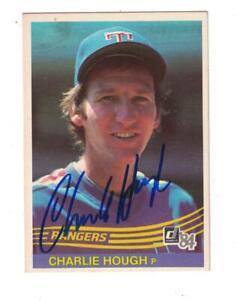 Details About Charlie Hough Autograph 1984 Donruss Baseball Card Signed Texas Rangers