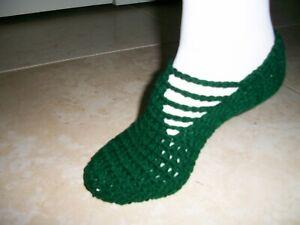 Women-039-s-Handmade-Crochet-Ballet-House-Slippers-Sz-7-9-Black-Brown-Red-Gray-Green