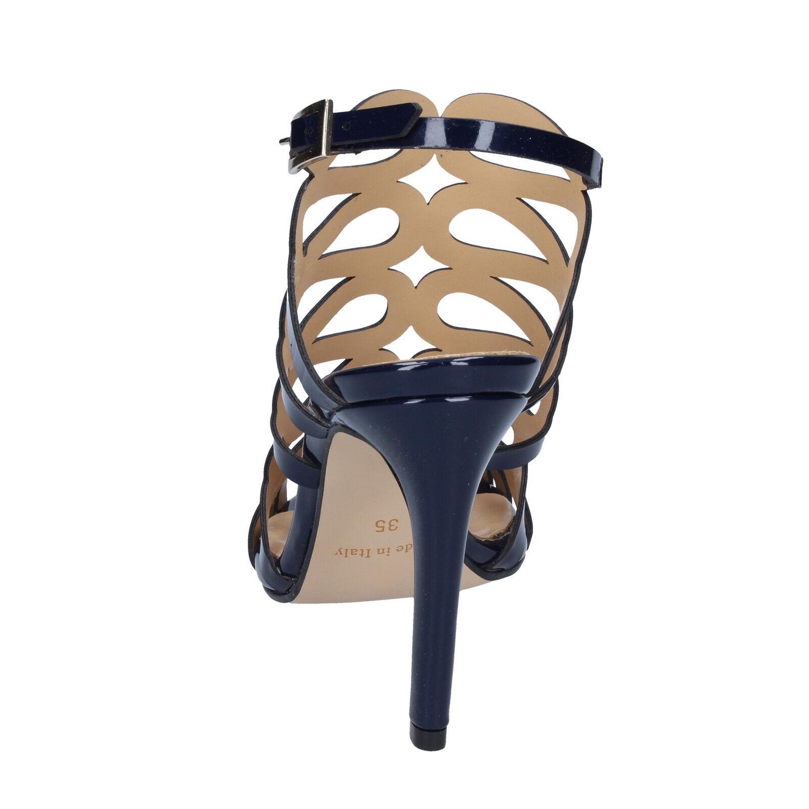 Zapatos señora olga Burini 39 UE sandalias azul charol charol charol bs91-39 847ba8