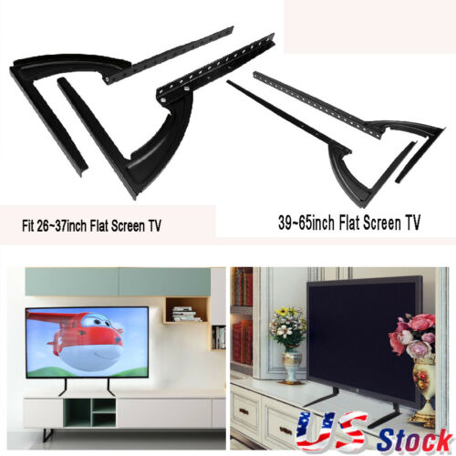 """Universal Replacement Bracket TV Stand Tabletop TV Base Stand Mount F 26-65/"""" TVs"""