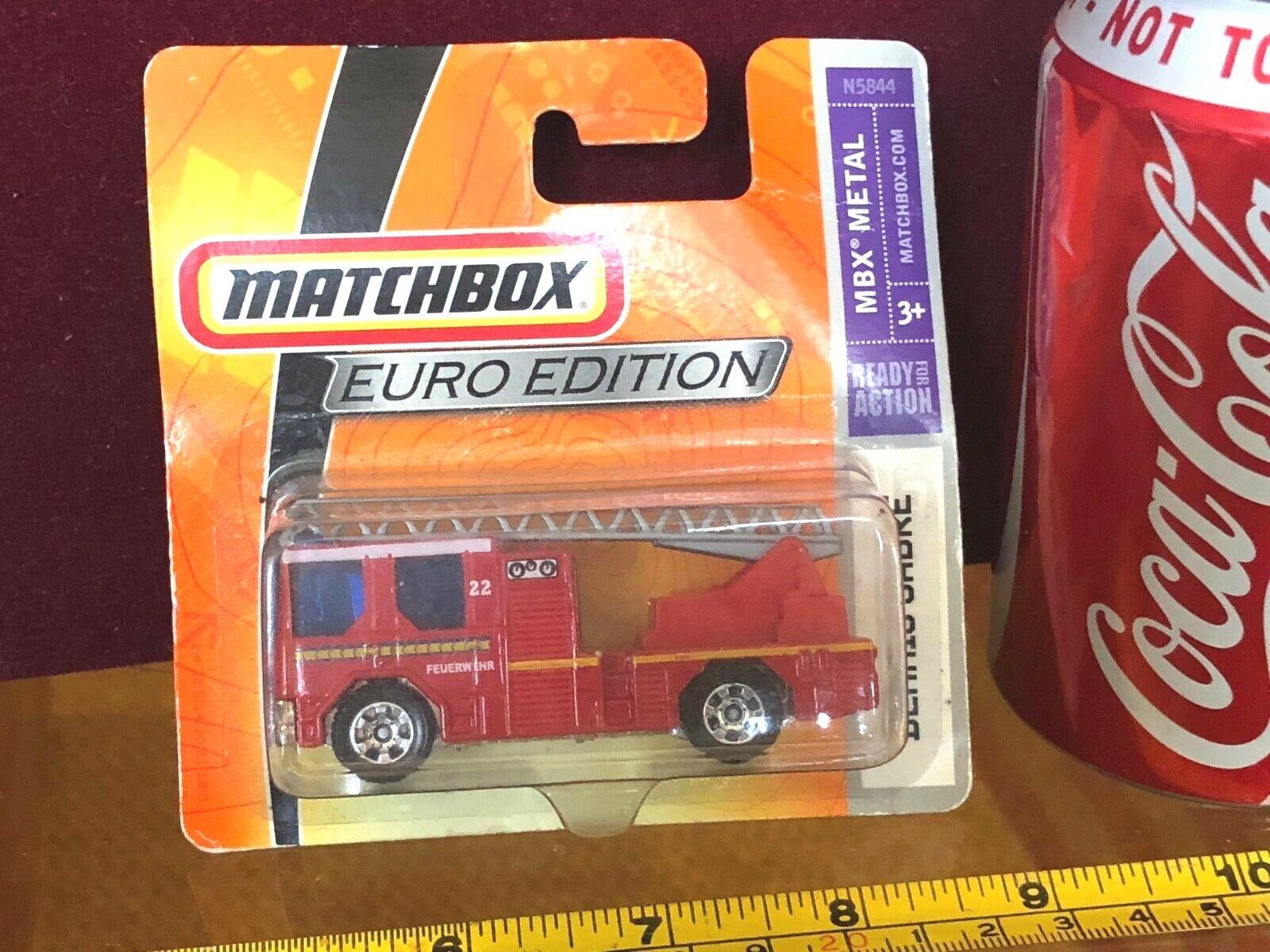 Matchbox Diecast Toy Car Vintage Sealed Fire Engine Euro Edition Dennis Sabre
