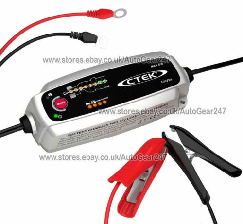 NEW CTEK MXS 5.0 12v Car Bike Caravan Smart Automatic Battery Charger M Bracket
