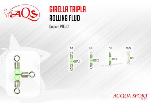 Girella Rolling Tripla con Perline Fluo ACQUASPORT Busta 12 Pezzi
