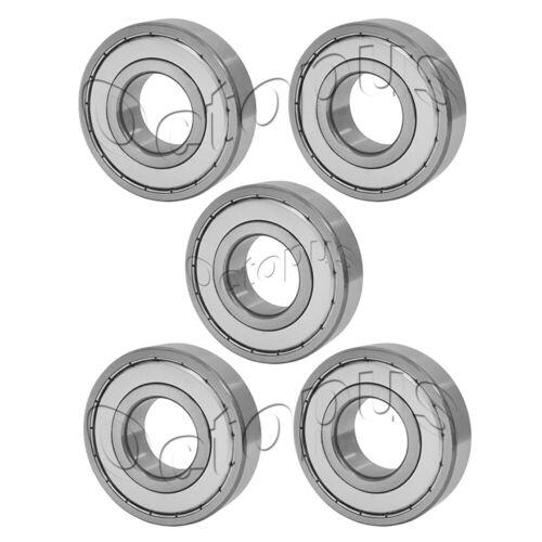 5 Pcs Premium 6205 ZZ ABEC3 Metal Shields Deep Groove Ball Bearing 25x52x15mm