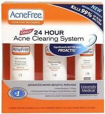 AcneFree 24 Hour Acne Clearing System Kit EXP. 09/2016