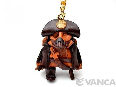 Pirates Handmade 3D Leather (L) Keychain/Keyring *VANCA* Made in Japan #56837