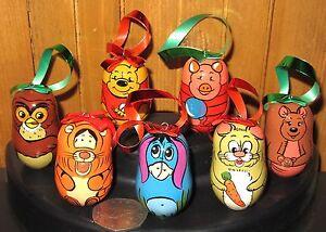 POOH-BEAR-Christmas-Tree-Ornaments-7-Set-TIGGER-PIGLET-EEYORE-OWL-RABBIT-KENGA