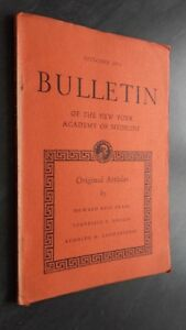 Notiziario Of I York Academy Of Medicina October 1951 ABE