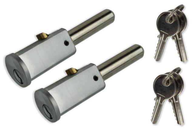 Roller Shutter Door Bullet Pin Locks Oval Round Face and Housings Keyed Alike