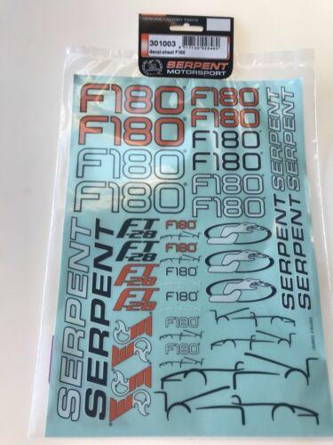 Serpent F180 Decal Sheet 301003